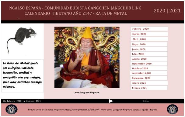 Calendario Tibetano.Gangchen Jangchub Ling Ngalso Espana Www Ngalso Esp Org